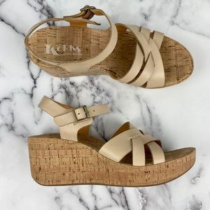 Kork by Kork-Ease Pernell Tan Cork/Leather Wedges